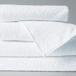 Полотенце гостиничное отбеленное, высокая петля 400 гр/м2, с бордюром - 35h70-sm