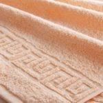 Полотенце гладкокрашенное высокая петля 400 гр/м2, арт. 028 персиковый - 40h70sm